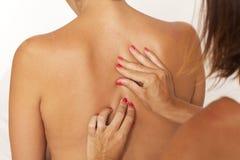 Massage of back royalty free stock photography