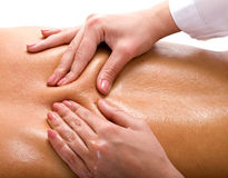 Massage of back. Spa resort. Royalty Free Stock Image