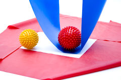 Massage balls with gymnastics tape Royalty Free Stock Photography