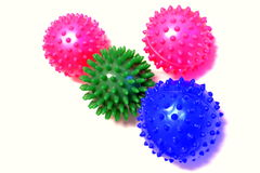 Massage balls. On a white background royalty free stock photography
