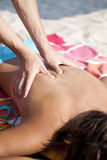 Massage on the beach Royalty Free Stock Photos
