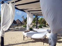 Massage on the beach Stock Image