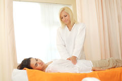 Massage in the Beauty Farm Stock Photography