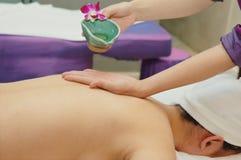 Massage in beauty salon Stock Image