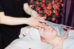 Massage in beauty salon Royalty Free Stock Photo