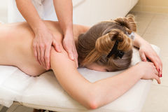 Massage in beauty salon Royalty Free Stock Image