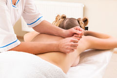 Massage in beauty salon Stock Photo