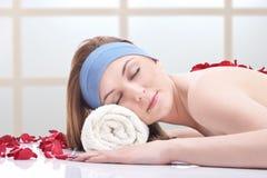 Massage at beauty spa Stock Photos