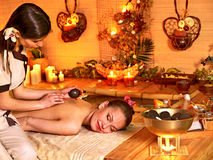 Massage in  beauty spa. Stock Photos