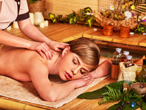 Massage in  beauty spa Stock Photography