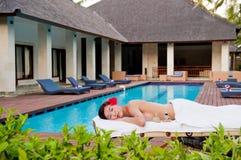 Massage bij Villa Stock Afbeeldingen