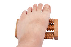 Massage board. Can be used to massage the soles of the feet Stock Photo
