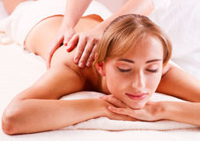 Massage bod  in spa Royalty Free Stock Image