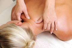Massage of body in beauty salon Royalty Free Stock Photo