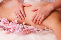 Massage body l women Stock Photo