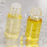 Massage and Body Oil - two bottles Royalty Free Stock Image