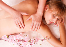 Massage body women relax in spa Royalty Free Stock Photography