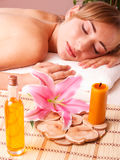 Massage body women relax in spa Royalty Free Stock Photo
