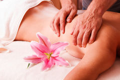Massage body  women  in spa Stock Images