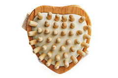 Massage brush. In a heart shape Royalty Free Stock Photography