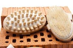 Massage brushes Stock Image
