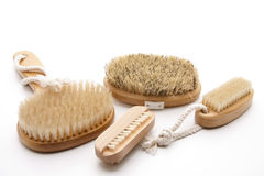 Massage brushes with bristles Stock Photo