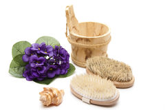Massage brushes with bristles Stock Image