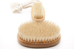 Massage brushes and nail brush Stock Images