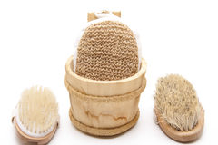 Massage brushes and sponge Stock Photography