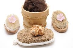 Massage brushes and sponge Stock Photography