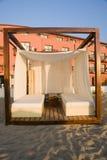 Massage Cabana auf Strand Lizenzfreie Stockfotos