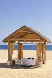 Massage Cabana on a secluded beach Royalty Free Stock Image