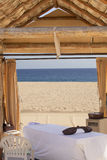 Massage Cabana on a secluded beach Royalty Free Stock Photos