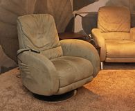 Massage chair. Modern arm chair with mechanical massage royalty free stock images
