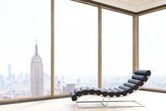 Massage chair in New York flat vector illustration