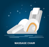 Massage chair Vector detailed. Vector detailed massage chair, massager for relax, cool flat  illustration Royalty Free Stock Image
