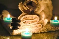 Massage chaud de roche Photo libre de droits