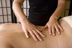During massage closeup Stock Photo
