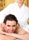 Massage couple Stock Photos