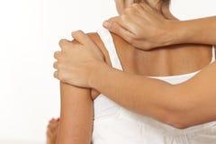 Massage d'épaule Photo stock