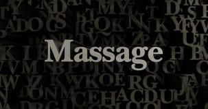 Massage - 3D übertrug metallische gesetzte Schlagzeilenillustration Stockbilder