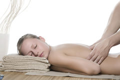 Massage d'Acupressure Photographie stock libre de droits