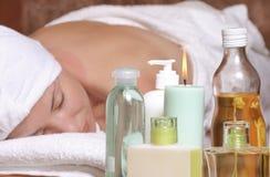 Massage d'arome image stock
