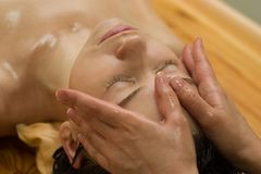 Massage d'Ayurvedic Images libres de droits