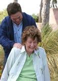 Massage dans le jardin Photographie stock libre de droits