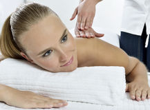 Massage at the day spa Royalty Free Stock Photo