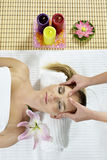 Massage at the day spa Stock Image
