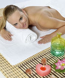 Massage at the day spa Royalty Free Stock Images