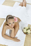Massage at the day spa Royalty Free Stock Image