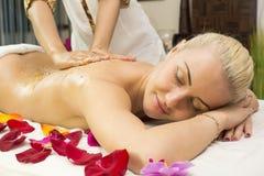 Massage de Balinese Images libres de droits